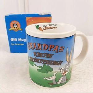 Vintage 2000 Looney Tunes Bugs Bunny Grandpa Mug